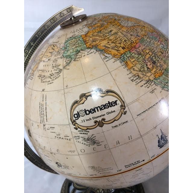 Globemaster Vintage World Globe - Image 3 of 6