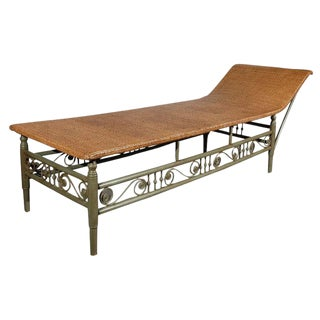 Antique Heywood Wakefield Chaise Lounge