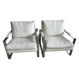 Milo Baughman Thayer Coggin Cube Chairs - Pair