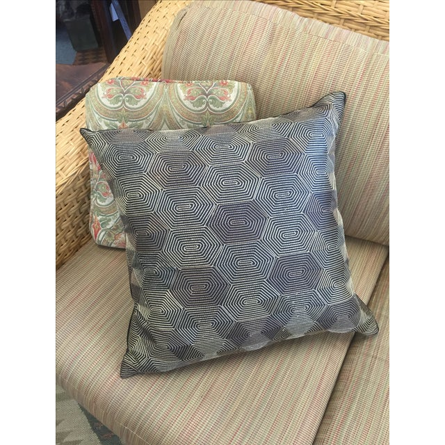 Image of Black And Gold Geometric Pillow