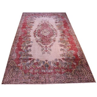 "Vintage Turkish Overdyed Area Rug - 5'9"" X 9'8"""