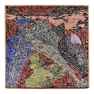 Cubist Glass Mosaic Wall Sculpture
