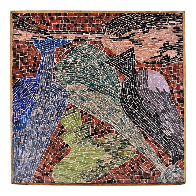 Cubist Glass Mosaic Wall Sculpture - Image 1 of 11