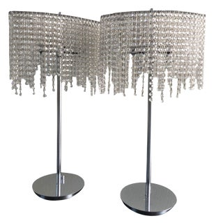 Crystal Table Lamp - Pair