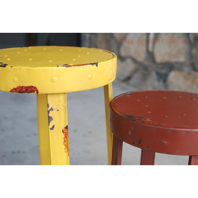 French Bistro Stools - A Pair - Image 3 of 5