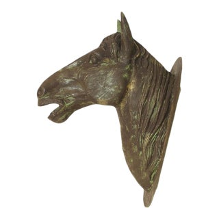 Large Cast Iron Horse Head