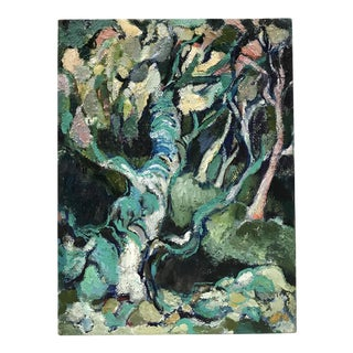 1960s Abstract Painting of Trees