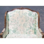 Image of Louis XV Upholstered Carved Walnut Bergeres Marquis Armchairs- A Pair