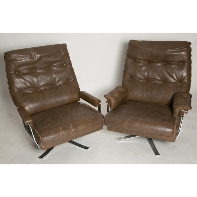 Arne Norell Leather Club Chairs - Set of 2 - Image 2 of 9