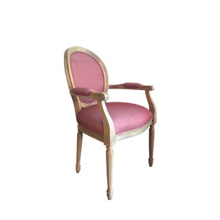 French Louis XVI Newly Upholstered Fauteuil Armchair