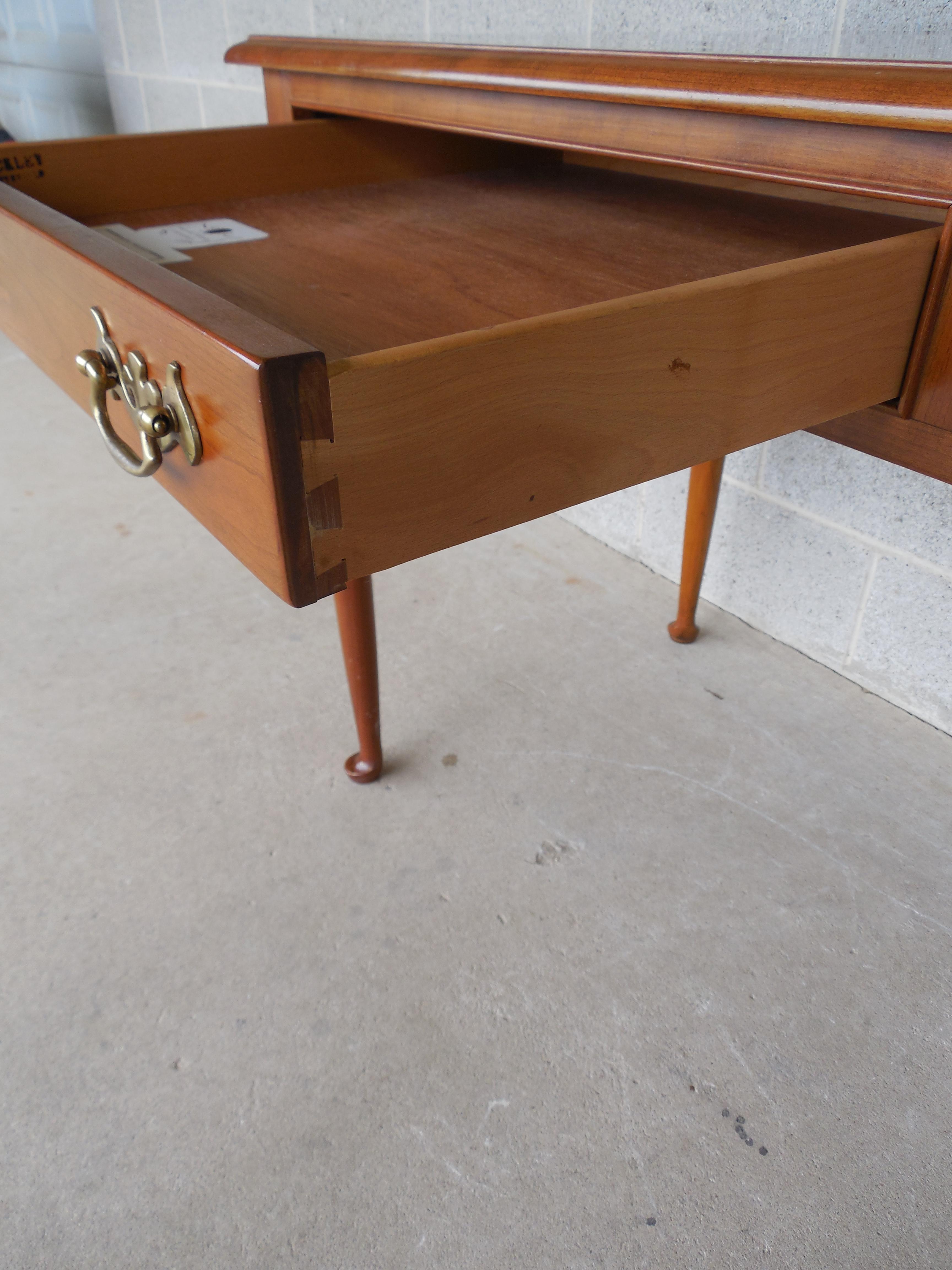 l u0026 jg stickley cherry valley 2 drawer writing desk image 5 of 11