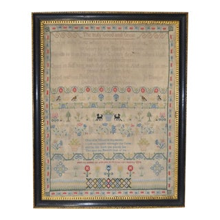 Antique Embroidery Sampler by Charlotte Wood