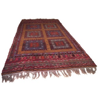 Hand-Knotted Wool Turkish Kilim - 5′8″ × 12′8″
