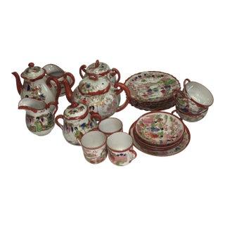 Japanese Porcelain Tea Set - Set of 22