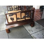 Image of Antique Carved Opium Bed