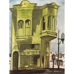 Image of San Francisco Victorian House Watercolor Painting
