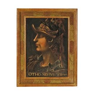 Grand Tour Italian Painting of Caesar on Panel