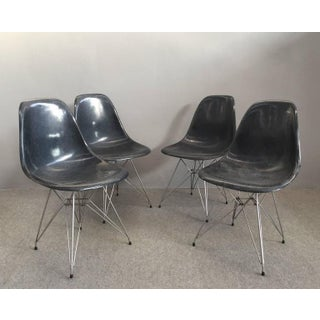 Stunning Set of Four Chairs by Charles and Ray Eames for Hermann Miller