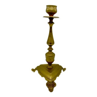 Extra Tall Vintage Brass Candlestick