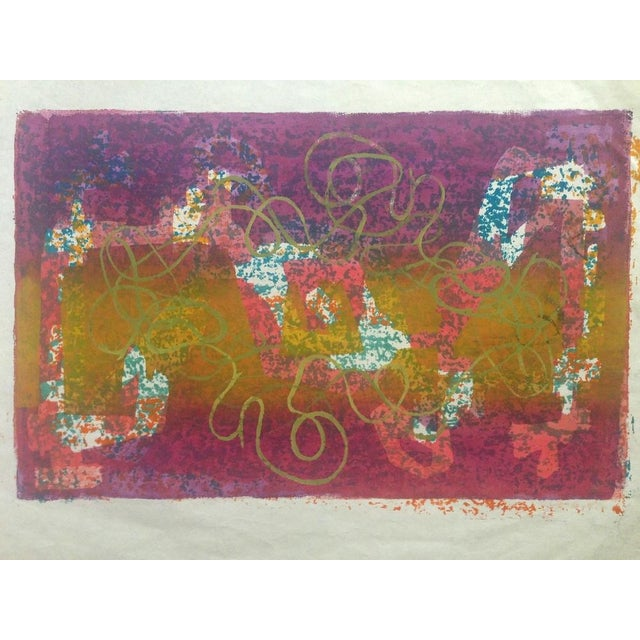 Mid-Century Abstract Silkscreen Estelle Siegelaub - Image 1 of 7