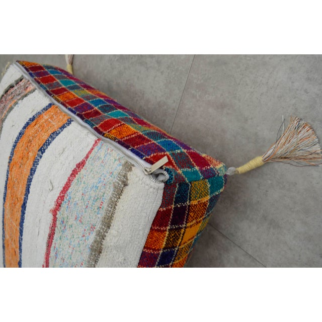 Turkish Kilim Floor Pillow : Tribal Floor Cushion Hand Woven Kilim Pillow - 24? X 24? Chairish