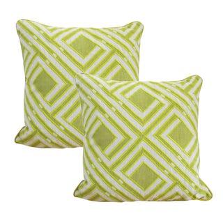 Modern Green Accent Pillows - A Pair