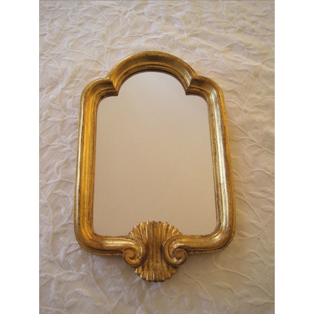 Image of Florentine Giltwood Wall Mirror Italy Shell Motif