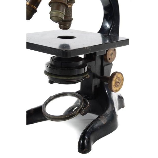 Ernst Leitz Wetzlar Antique Brass Microscope & Box - Image 6 of 9