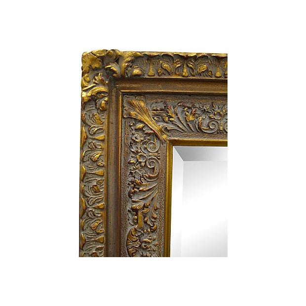 Carved Wood & Gesso Mirror - Image 2 of 2