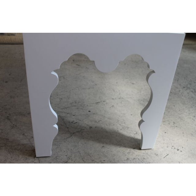 Image of White Lacquered Coffee Table