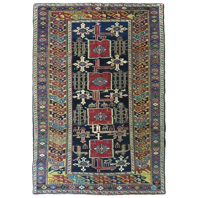 Antique 19th Century Caucasian Karaghashli Rug - Image 1 of 2