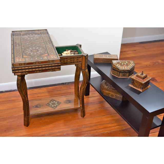 Syrian Wooden MultiGame Side Table Chairish - Sofa game
