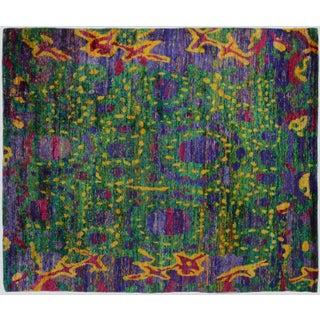 Indian Sari Silk Rug - 8′2″ × 13′