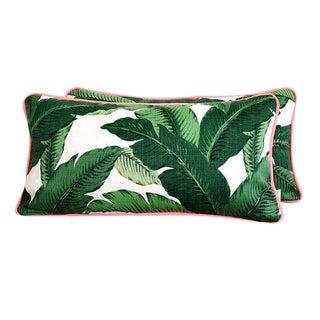 Outdoor Palm Frond Lumbar Pillows - A Pair