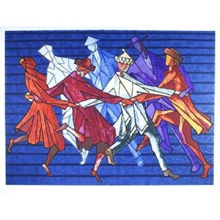 Chaim Goldberg - The Horah Dance Lithograph
