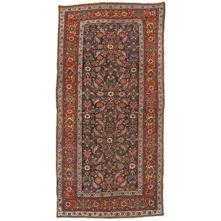 Antique Persian Bijar Gallery Rug - 4′6″ × 8′11″ Circa 1900