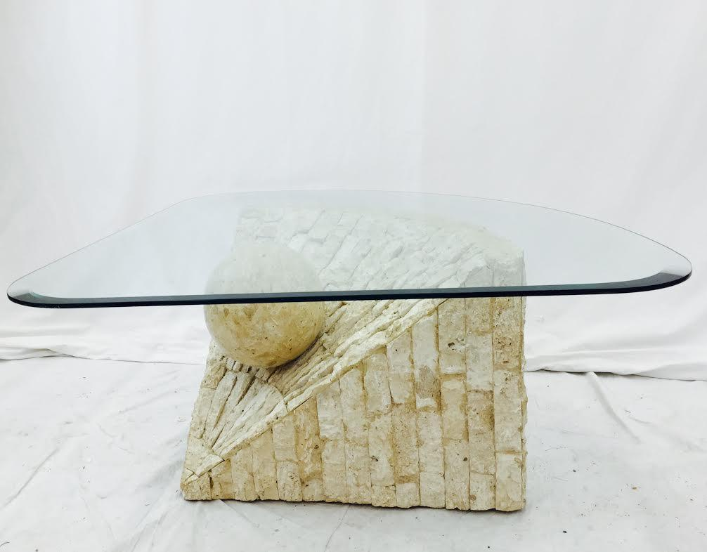 Perfect Mid Century Modern Stone Side Table   Image 2 Of 10