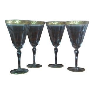 Dorothy Thorpe Attr. Mid-Century Wine Goblets- S/4