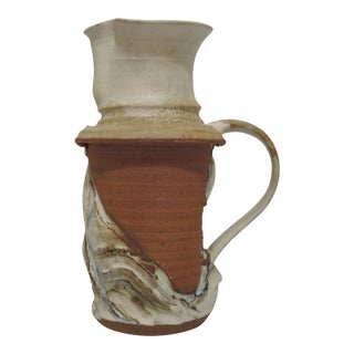 Mid Century Abstract Studio Pottery Pitcher