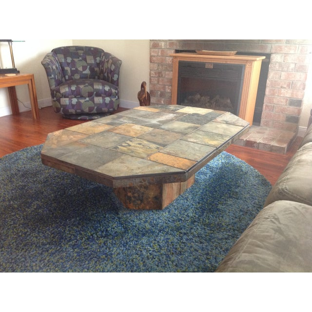 Black Coffee Table South Africa: African Slate Coffee Table
