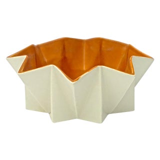Mid-Century Modern Red Wing Cubist Serving Dish