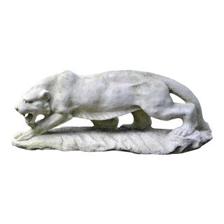 Carved Marble Tiger