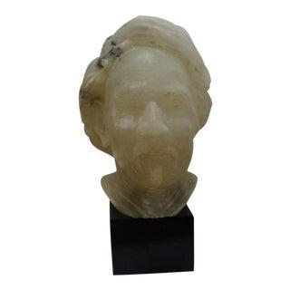 White Alabaster Bust