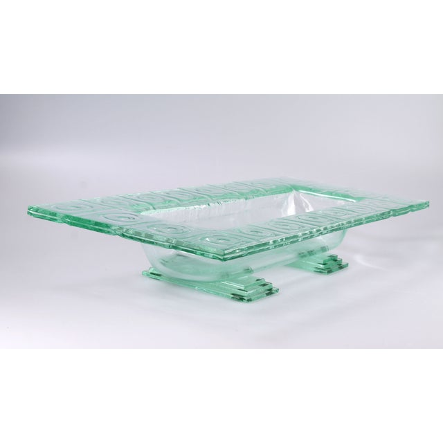 Floating Green Glass Centerpiece Tray - Image 8 of 11