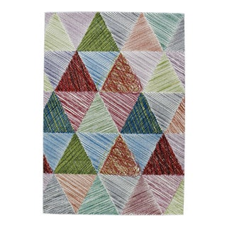 "Rainbow Triangle Rug - 5'3"" x 7'7"""