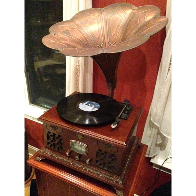 Mahogany Gramophone Replica - Image 4 of 5