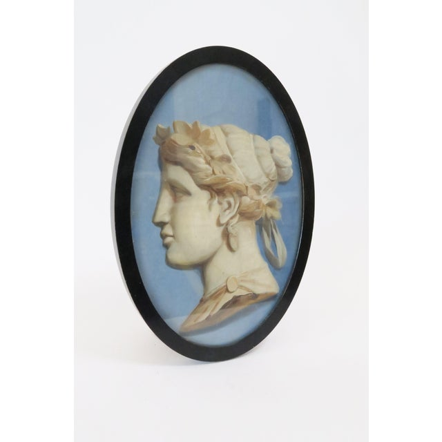 Framed Vintage Cameo Painting - Image 3 of 5