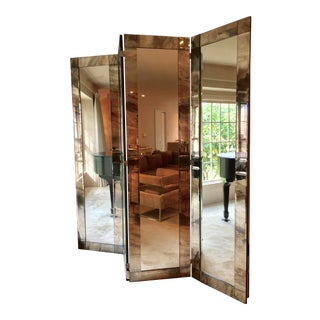 1970's Vintage Hollywood Regency Screen Mirror