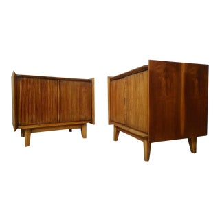 Midcentury Two-Door Nightstands