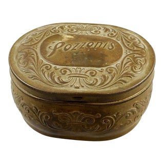 'Pozzoni's' Face Powder Brass Box